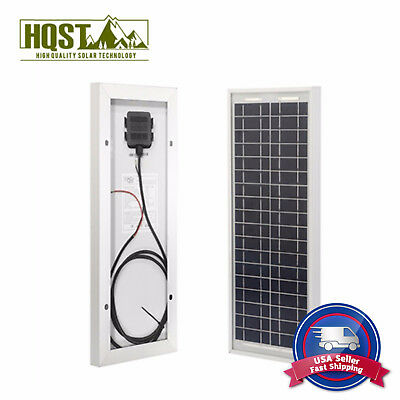 10W Portable Poly Solar Panel Module 12V Off-Grid PV Power RV Cabin Boat