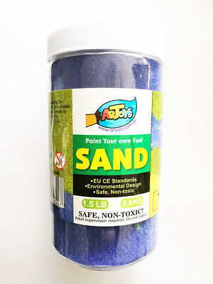 Cobalt Blue Colour Sand 600g Great for School & Home & Party Craft Sand Art