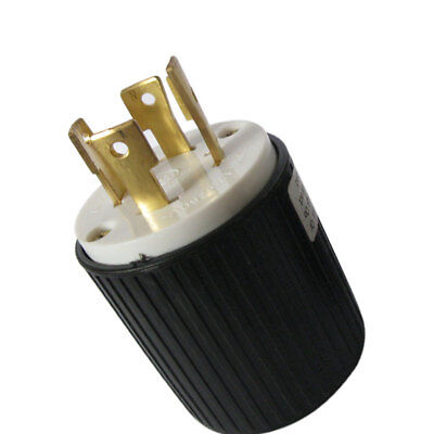 L14-30P Locking Male Plug 30A 250V Electrical Cable Wire Connector Plugs Adapter