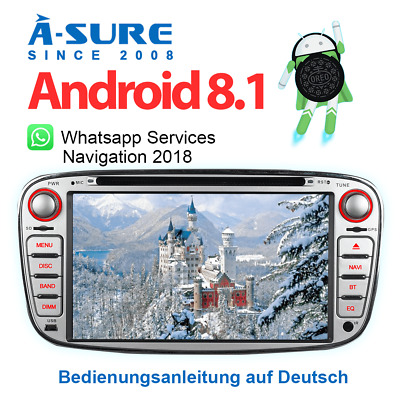 """7""""IPS Android 8.1 DVD GPS Mulitmedia SWC A2DP WLAN für Ford Focus Mondeo C/S-Max"""