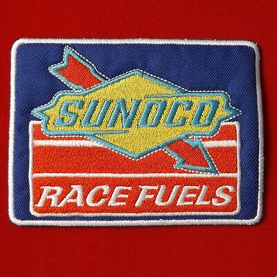 1pc.x sunoco race fuels auto lube oil formula1 embroidered iron on sew patch