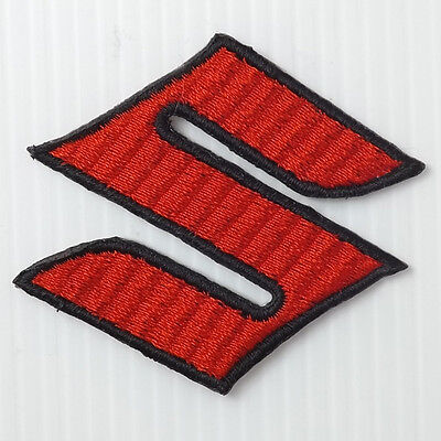 1pc.x suzuki logo emblem  embroidered iron on or sew on patch badge racing suit