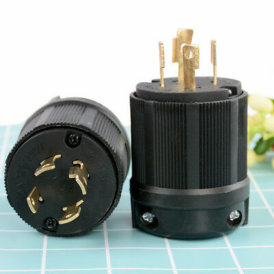 L14-30 Locking 4 Prong Male Plug 30Amp 125/250Volt-UL Approved High Quality New