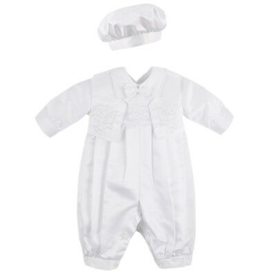 Baby Infant Boys 3 Piece Set Christening Baptism Outfit Wedding Party Suit 3-18M