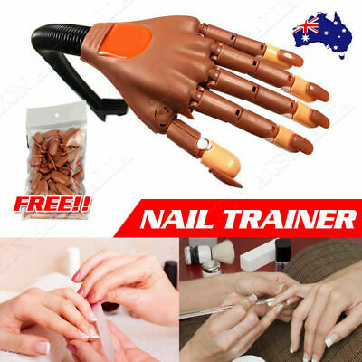 Flexible Nail Trainer Practice Training Model Trainer with100 Refit Replace Tip
