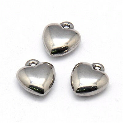 10Pcs 304 Stainless Steel Drop Filigree Pendants Stainless Steel Color 20x15x1mm