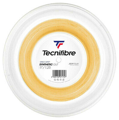 Tecnifibre Tennis String Synthetic Gut 1.25mm - 200m Reel Gold - Free UK P&P