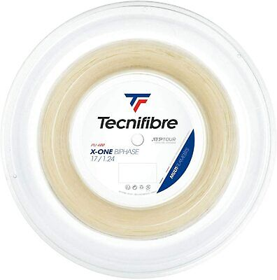 Tecnifibre X-ONE BIPHASE Tennis String - 200m reel - 1.24mm/17G - Natural