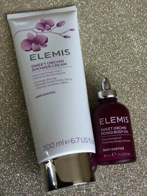 Elemis Sweet Orchid Body Oil And Shower Cream Full Size Set / Bundle