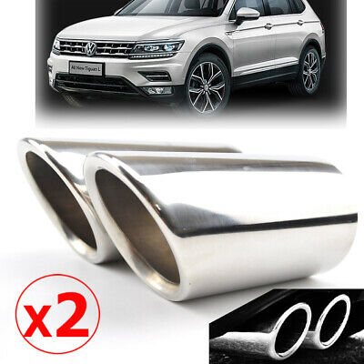 For 2016 2017 VW Tiguan 2 Exhaust Muffler Tip Tail Pipe End Trim Finisher Cover