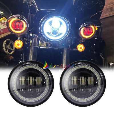 "4-1/2"" 4.5"" 60W CREE LED Fog Lamps Passing Light for Harley Motorcycle"