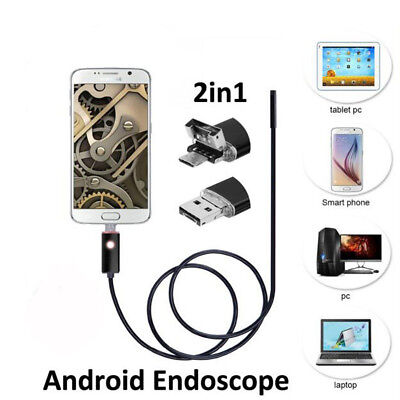 1-10M 6LED Android PC HD Endoscope Waterproof Snake Borescope Inspection Camera