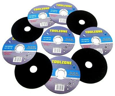 10x Stainless Steel Cutting Discs 115mm x 1.2mm x 22.2mm Angle Grinder AB037