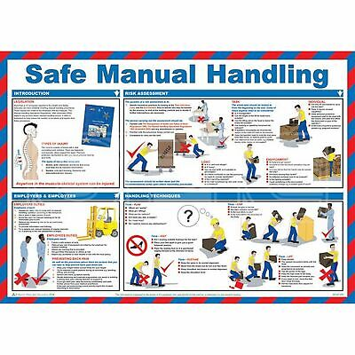 Safety First Aid Safe Manual Handling Poster - 59cm x 42cm (A597T)