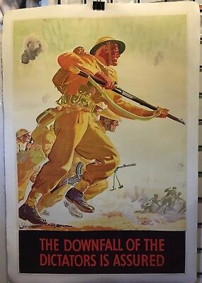"WW2 The Downfall of the Dictators Assured 20x30"" linenbacked"