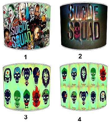 Suicide Squad Lampshades, Ideal To Match Suicide Squad Wall Decals & Stickers.