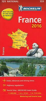 France 2016 National Map 721 (Michelin Road Atlases & Maps)