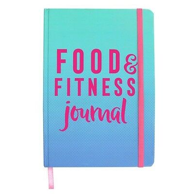 A5 Food And Fit Fitness Journal Diary Notepad 2018 Gym New Years Black Friday