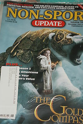 NSU Non Sport Update Magazine Golden Compass Cover Vol 18 #6 2008 Heroes promos