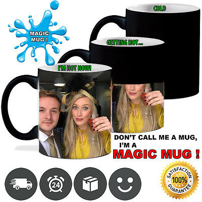 Personalised Magic Mug Cup Heat Colour Changing Tea Coffee Image Photo Text Gift