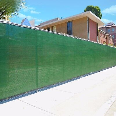 6'x150' Dark Green Fence Privacy Screen Windscreen Shade Cover Mesh Fabric Cloth