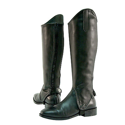 Shires Adults Synthetic Gaiters: Black: Extra Large