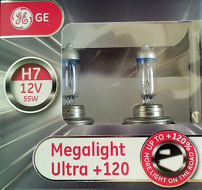 GE General Electric H7 MegaLight Ultra 120 mehr Licht 2er Set 58520SNU AD