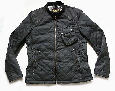 "Superb Barbour International "" Bonner ""  Wax Biker Style Jacket - Lge - £225 Vgc"
