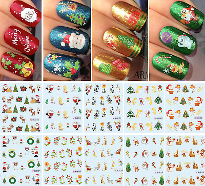 Nail Art Water Transfer Stickers-decorazione NATALE-CHRISTMAS-Adesivi Unghie