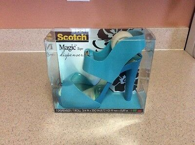 Unique Office Scotch Majic Tape Dispenser Blue High Heel Shoe