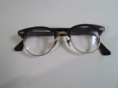 Vintage Retro Glasses Spectacles - Bridge Stamped UK1/10-10 ct 22mm       §AGL2