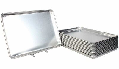 Restaurant Essentials Bakeware Set of 12 Full Size Commercial Sheet Baking Pans