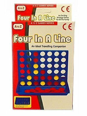 Four in a Line Row Connect 4 Mini Travel Car Holiday Family Game Toy [by A to Z]