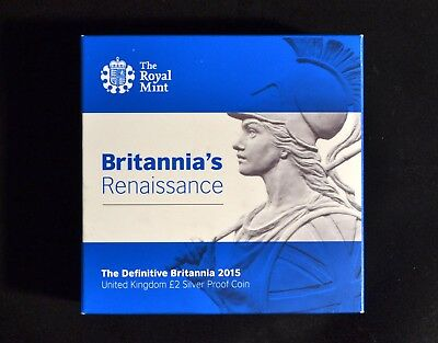 2015 Definitive Britannia Renaissance Silver Proof £2 Coin