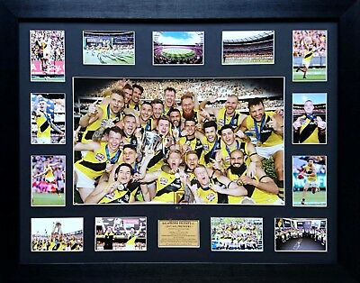 2017 Richmond Tigers Official Premiers Poster Framed with Game Day photos