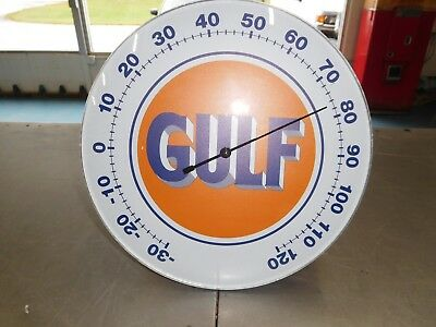 Gulf Oil Thermometer Sign