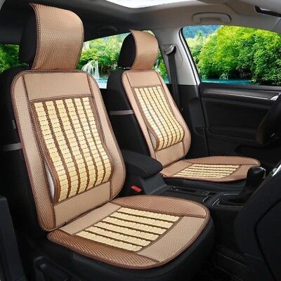 1x Nano Bamboo Strip Front car seat Cool Mat Back Support cushion Pad Head Cover