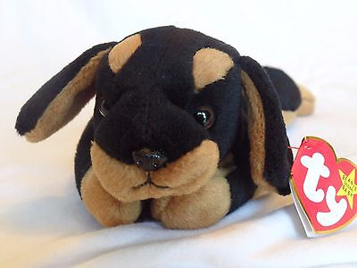 Ty Beanie Baby Doby the Dog Near Mint Condition