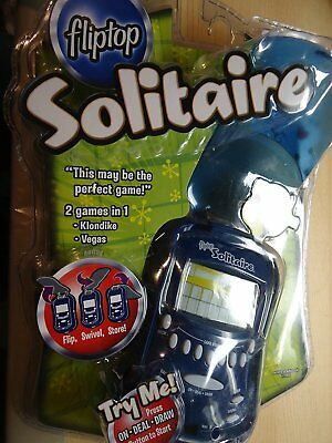 Flip-Top 2 in 1 LIGHTED SOLITAIRE Handheld Game 2006 Edition by Radica