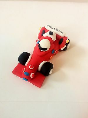 Edible Red F1 Car Cake Topper Decoration