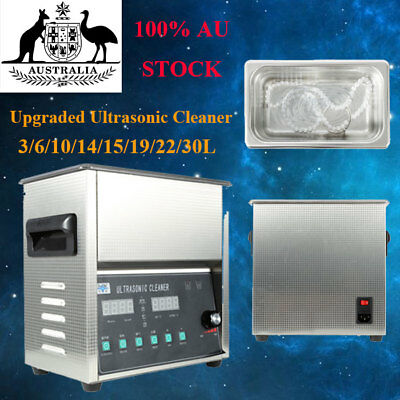 New Upgraded Stainless Steel Digital Ultrasonic Cleaner Heater Timer Industrial