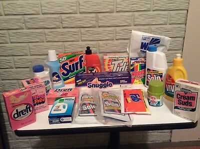 Vintage Detergent Free Sample Size Collection...1990s...19 PCS Total