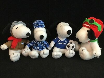"""New MetLife Promo Blue Camo Snoopy Stuffed Promotional Toy 6"""" Sitting 2015 Plush"""
