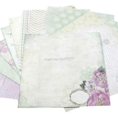 "Paper 12sheet 6x6"" Vintage Flowers Craft Scrapbooking DIY Photo Album Background"