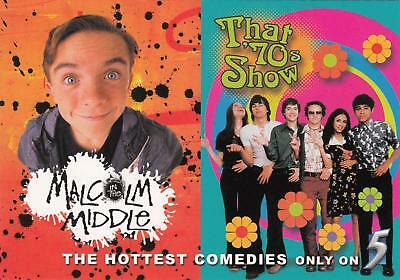 TV Shows Malcolm in the Middle & That 70's Show postcard 2000 NM/Mint condition