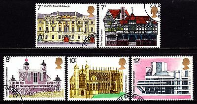GB QEII Stamps. 1975 European Architectural Heritage Year. SG975-79. Used. #4024