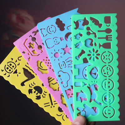 Creative 4pcs Drawing Rulers Stencil Template 1 Set Art Kids Gift Painting Mold