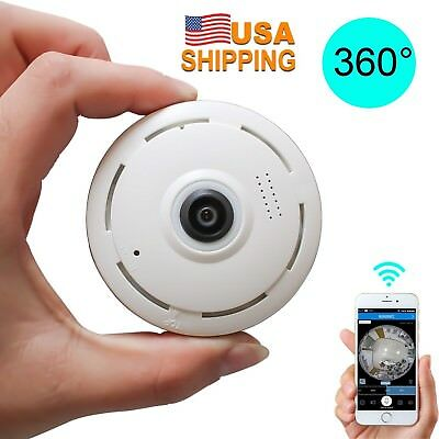 USA HD 360°Angel wireless WIFI Mini Smart Panoramic IP Camera Home Security