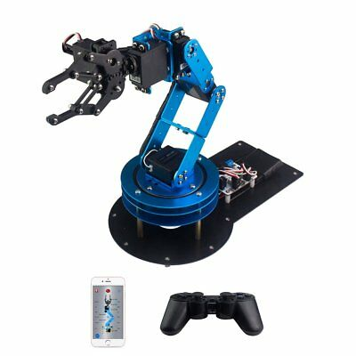 LewanSoul LeArm 6DOF Full Metal Robotic Arm with Servo, Controller, Wireless PC