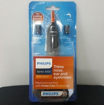 Genuine Philips NT3160 Nose Ear Hair Eyebrow Water-Proof Trimmer Series 3000